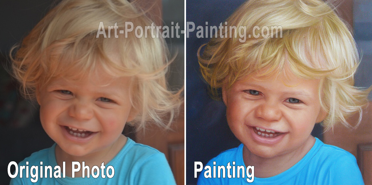Portrait Painting : Baby / Child